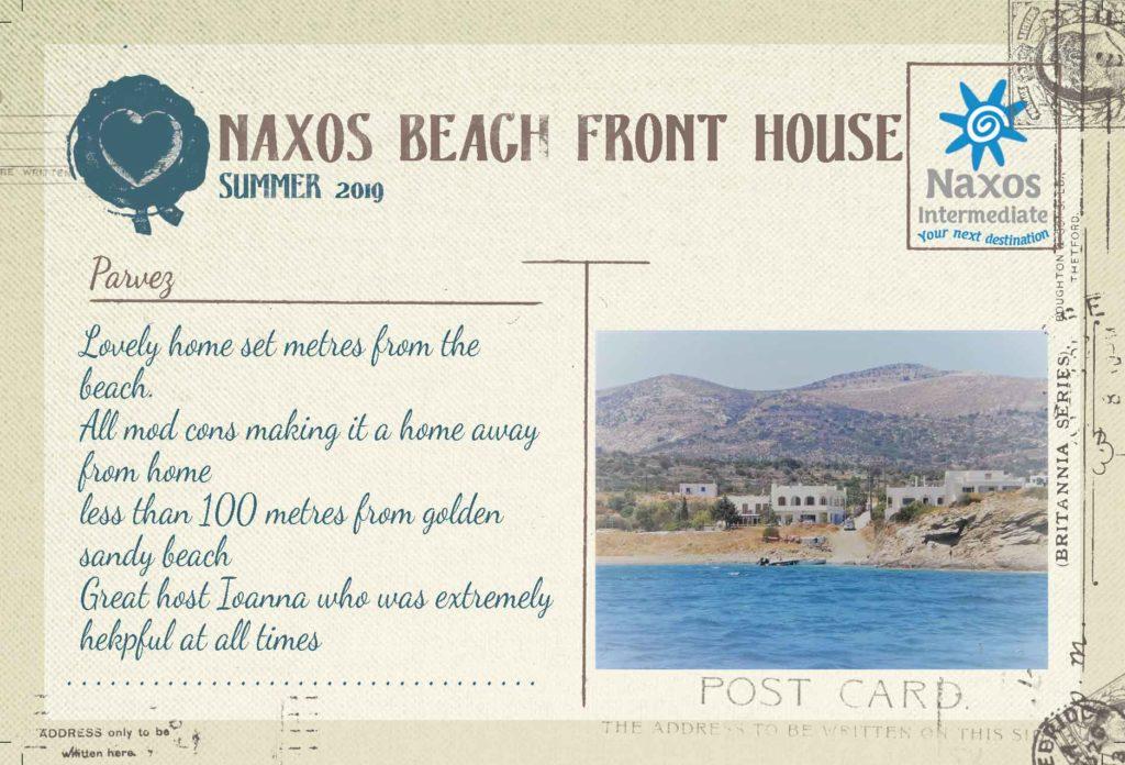 Naxos Beach Front House - Casa con 2 camere